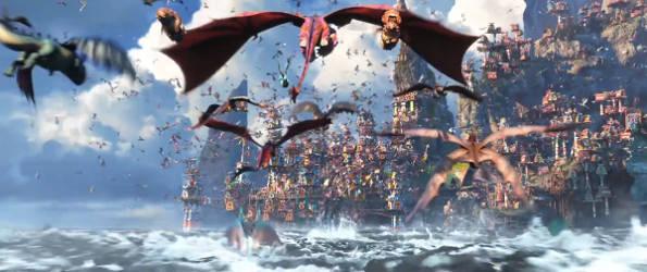 Как приручить дракона 3 мультфильм 2019 (кадр из мультфильма)