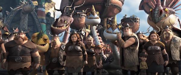 Как приручить дракона 3 мультфильм 2019 (кадр из мультфильма) викинги и драконы