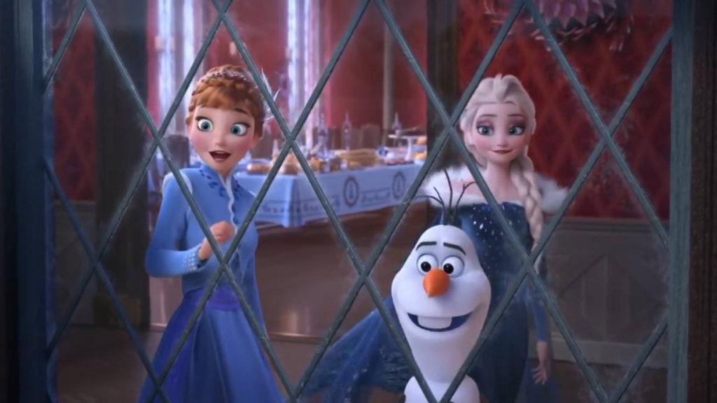 Олаф и Холодное приключение Анна, Эльза и Олаф