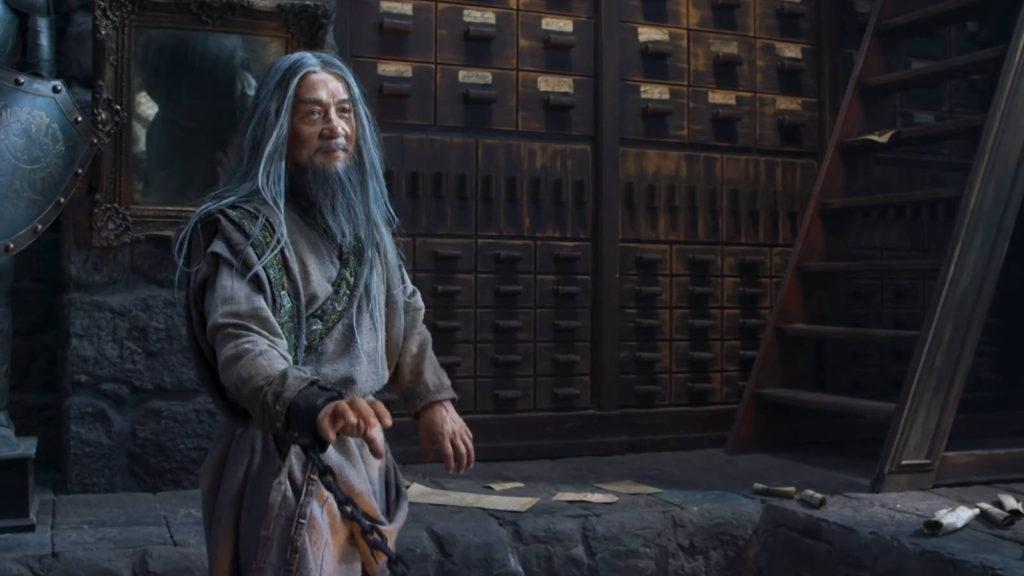 Джеки Чан в фильме Тайна печати дракона