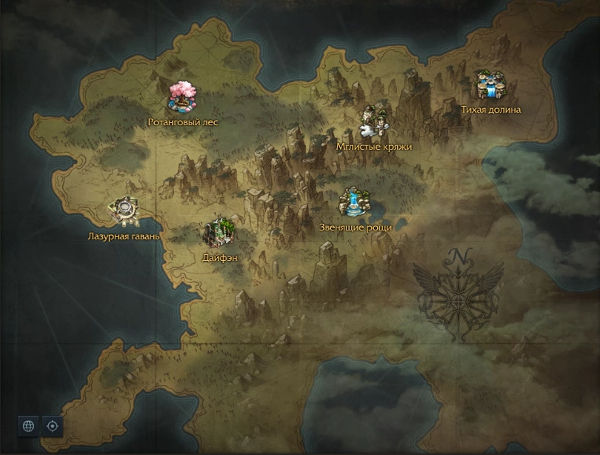 Карта. Континент Аньшу Lost Ark