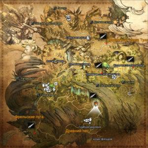 Точки обзора Рандейл в Astellia. Карта