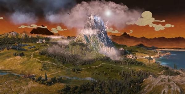 Total War Saga: Troy. гора Олимп